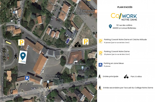 Plan parking Cowork Notre Dame